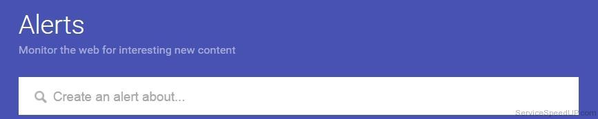 התראות גוגל - מערכת התראות על מילות מפתח