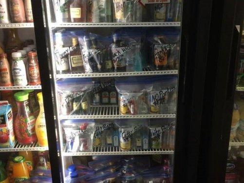 שיווק פרטיזני - בנדאל בחנות אלכוהול